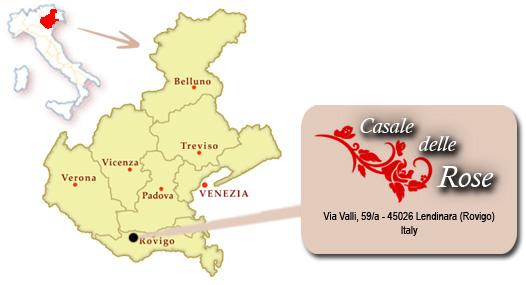 Cartina Dell Italia Rovigo.Bed And Breakfast Casale Delle Rose